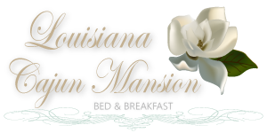 Louisiana cajun mansion logo